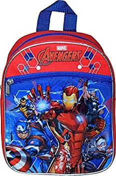Marvel Avengers 10  Mini Backpack W/ 3D Heat Seal Patch Logos or Iron Man And Captain America