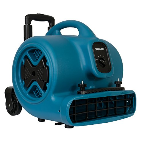 Review XPOWER P-630HC Air Mover, Dryer, Fan, Blower with Telescopic Handle, Wheels, Carpet Clamp for...