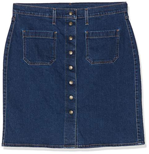Levi's Front Detailed Skirt Falda, Azul (Indigo Velvet 0), 30 para Mujer