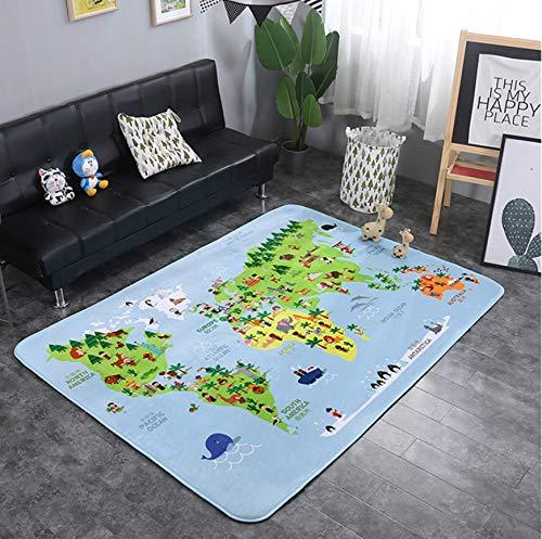 Animaux Fox Lapin Cerf Dessin Animé Motif Bébé Tapis De Jeu Enfant Crawling Couverture Tapis Nordic Kids Room Home Decor 200 * 150cm 22