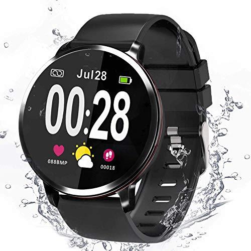 Smartwatch, Fitness tracker, Bluetooth Uhr, Aktivitäts Tracker, Unterstützung Sport Kalorienzähler / Herzfrequenz / Blutdruck / Musik und Kamera-Fernbedienung, Kompatibel mit Android und IOS. (41mm)