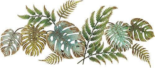 Kare Design Perchero Jungle Party, Armario de barra de 6 ganchos estilo Jungle, Verde, 43 x 107 x 5 cm