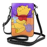 Winnie Love Tea - Bolso bandolera para teléfono celular con ranuras para tarjetas de crédito