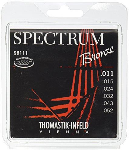 Thomastik Saiten für Akustikgitarre Spectrum Bronze Series nickelfrei Satz SB111 light .011-.052