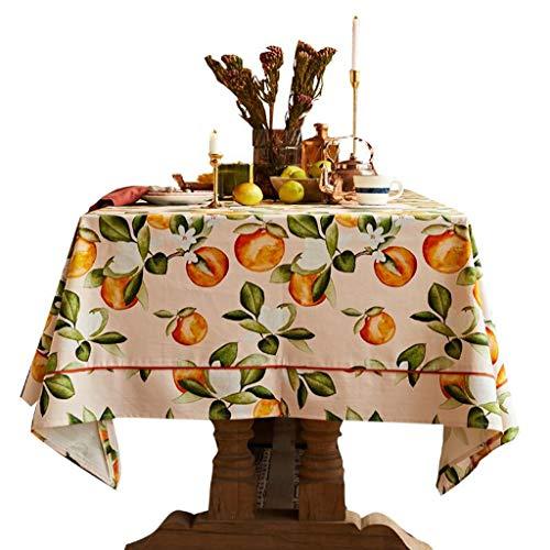 HQQ Tischdecke im amerikanischen Stil Idyllische Picknickdecke Kleine frische rechteckige Tischdecke (Size : 1.4m*2m)