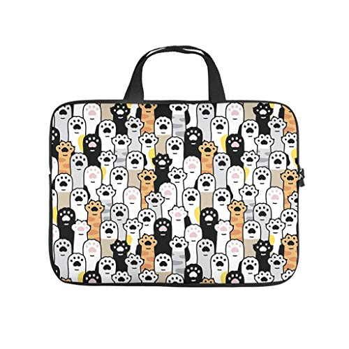 Multifunctional Pet Footprints Tote Bag Laptop Sleeve - for Notebook White 15 Zoll