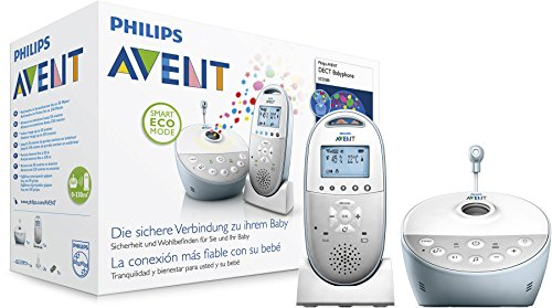 Philips Avent SCD580/00 Audio-Babyphone mit DECT-Technologie, Smart Eco Mode, Sternenhimmel, Gegensprechfunktion, weiß