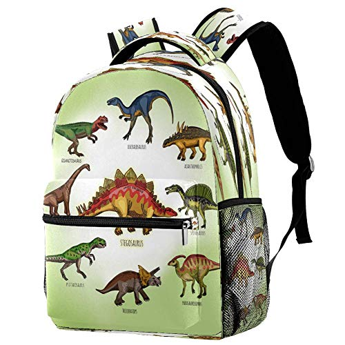 Mochila escolar de dinosaurio, mochila para libros, informal, para viajes, estampado 7 (Multicolor) - bbackpacks004