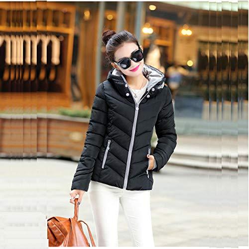 ZTCoats Jackor för kvinnor, vinter kvinnor svart jacka med huva mode stor storlek 3Xl kvinnor vinterjacka solid stativ krage dam enkel höstjacka kvinnlig kappa ytterkläder XL