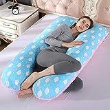 qq666 U Forme oreillers de maternité Grossesse Oreiller de Corps Femmes Enceintes côté dormeurs oreillers de literie Dropshipping-Blue_Pink_130x70CM
