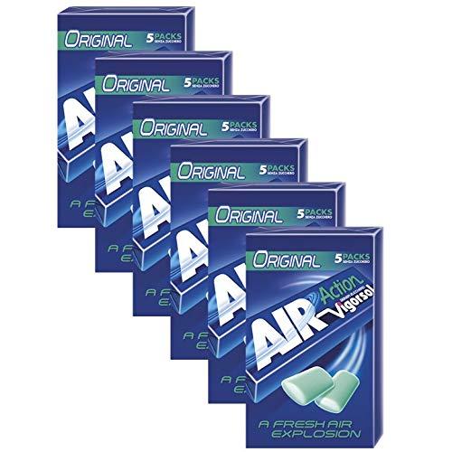 Vigorsol Air Action Gomme da Masticare Senza Zucchero Multipack Stick, Chewing Gum Gusto Menta, 6 Confezioni da 5 Stick, 30 Stick