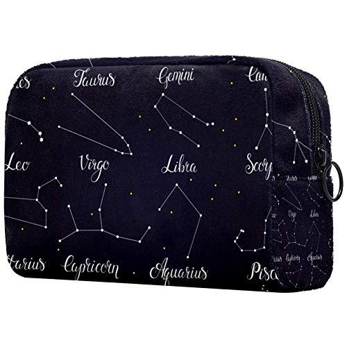 Sac à main de voyage avec étoiles pour maquillage Motif ciel foncé