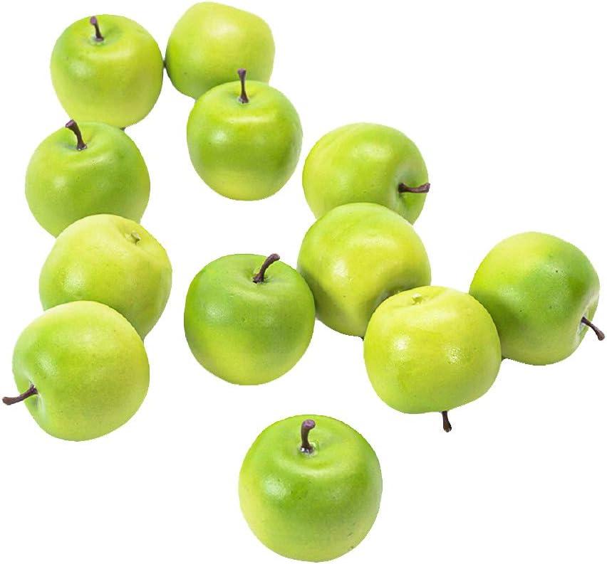 Serene Spaces Living Set of 24 Decorative Green Philadelphia Mall Fau Ranking TOP2 Apples Mini