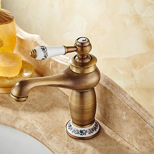 Moderno grifo de cocina y baño para cocina, cuarto de baño, lavabo, grifo de cocina, lavabo, antiguo, cepillado, montaje con un solo orificio, grifo de agua fría, grifo de cobre, grifo mezclador de ahorro de agua