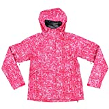 The North Face Women's Novelty Venture Full Zip Hooded Waterproof Rain Jacket (Rose Red, XS)