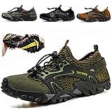 Xinghuanhua Chaussures d'eau de randonnée à séchage Rapide pour Hommes Chaussures de randonnée en Plein air Légères Chaussures de randonnée en Mesh Respirant 38-50EU
