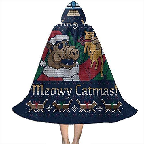 Not Applicable Capa De Bruja,Meowy Catmas Alf Christmas Knit Premium Witch Capes para Niños Niñas Niños 138cm
