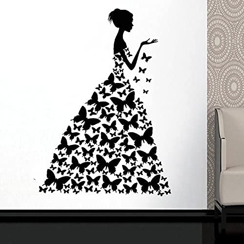 DOUMAISHOP Vestido De Mariposa Etiqueta De La Ventana Salón De Belleza Mujer Moda Estilo Ropa Boutique Vestido Vestido Negro Modelo Am34
