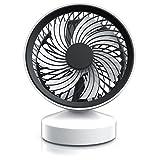CSL - Tischventilator Ventilator mit Standfuß - Leises Betriebsgeräusch - nur max. 45dB - Ein Aus-Schalter - Energie-sparend nur 3,5W - Ca. 25 Grad neigbar einstellbarer Winkel -...