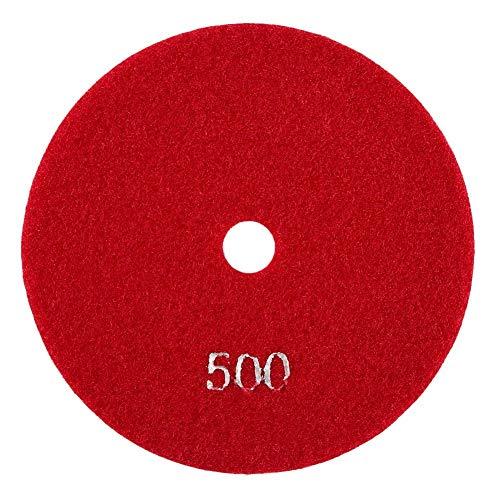 FTVOGUE 5 '' pulgadas 125 mm Discos de esmerilado Húmedos de pulido de diamante Lijado lija Ruedas para mármol de granito de hormigón(500)
