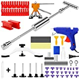 EVBOYS Paintless Dent Repair Kit Car Dent Remover Tool - 56 Pcs Dent Removal Puller Kits for Small Body Dent