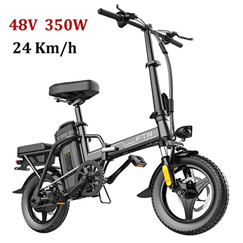 ZJGZDCP 48V Plegable Bicicletas eléctricas señoras Ultra Ligero portátil 350W 14 Pulgadas...