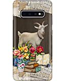 Goat Book Flower Phone Case for Samsung Galaxy S7 Edge - Silicone Case with 3D Printed Design, Slim Fit, IMD Soft TPU Cover