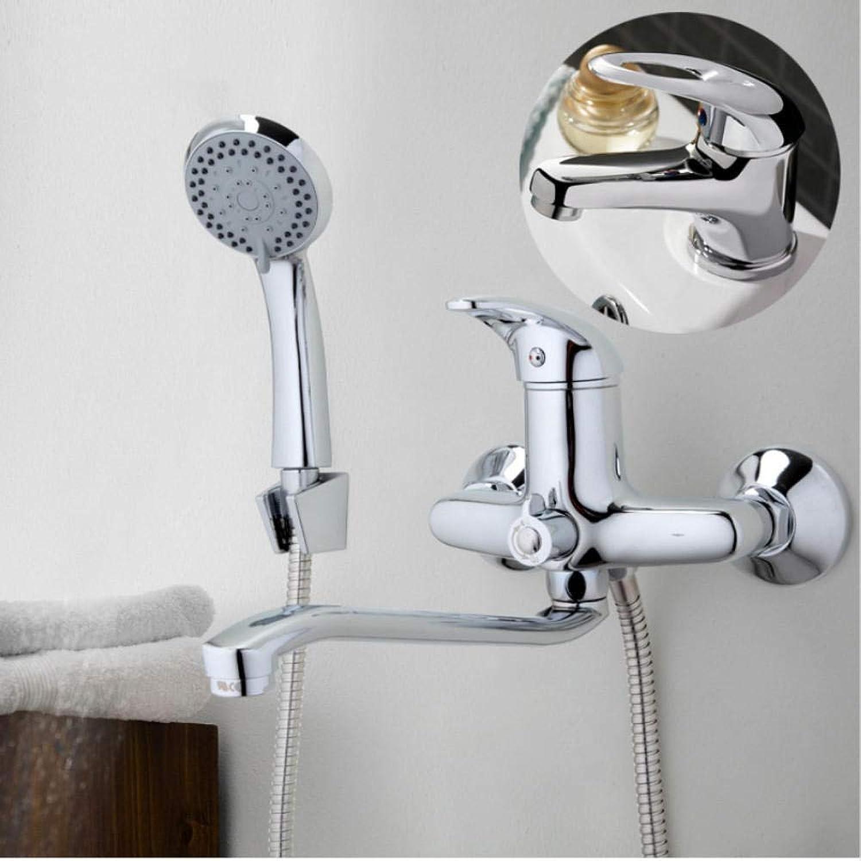 Gorheh 300Mm Auslaufrohr Chrom Badewanne Duscharmatur Mit Waschbecken Wasserhahn Mischbatterien Kalt Und Warm Mischer