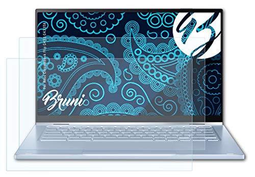 Bruni Schutzfolie kompatibel mit Asus Chromebook Flip C433 C433TA Folie, glasklare Bildschirmschutzfolie (2X)