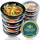|10 pack| Rund 1 fach Meal Prep Container. Frischhaltedosen Bento-Box Set mit Deckel. Spülmaschine, Mikrowelle, Gefrierschrank safe. BPA-frei Frishchalteboxen aus Kunststoff + eBook [680mL]