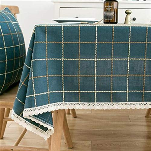 Mantel redondo a prueba de derrames LZCM – Mantel en poliéster lavable, antimanchas, antiarrugas, para cenas, fiestas, restaurantes, 90 x 150 cm
