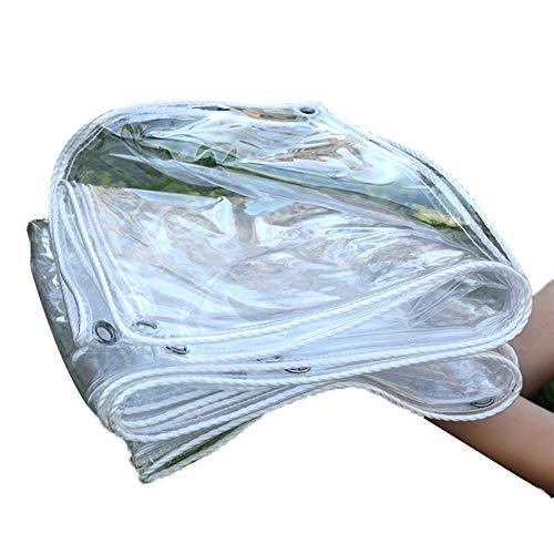 GZHENH Mantillo Vegetal Lona Transparente con Ojal Impermeable CLORURO DE POLIVINILO Láminas De Plástico Suave Plegable (Color : Claro, Size : 2x6m)