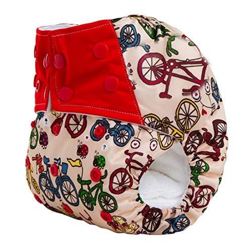 Happy Cherry - Pañal de Tela Reutilizables Lavable Ajustable para Niños Niñas Bebé 0 a 3 Años Pantalones de Pañales Transpirable Infantil - Colorido