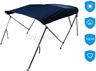 Brightent-Bimini Tops 6 Different Size 3-4 Bow Boat Canopy Cover with Free Support Poles and Towel Clips