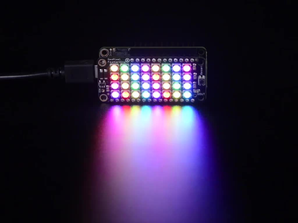 LED Lighting Development Tools NeoPixel LE RGB - Sales of SALE items from new works overseas FeatherWing 4x8