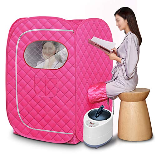 GQFGYYL-QD Portable Home Steam Sauna Personal Foldable Steam Tent for Weight Loss, Relaxation and Detoxification, Sauna Bag with 2 Liters Steamer andSmart Remote Control