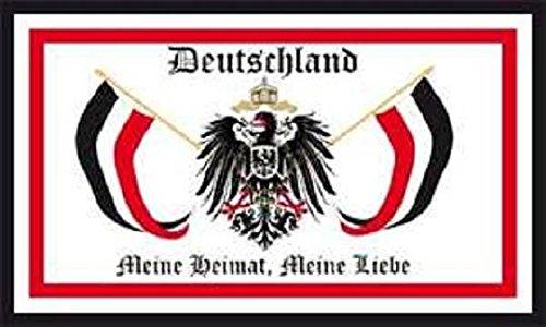 U24 Fahne Flagge Deutschland meine Heimat meine Liebe 90 x 150 cm