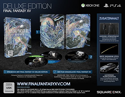Final Fantasy XV - Deluxe Edition - PlayStation 4 - [Edizione: Germania]