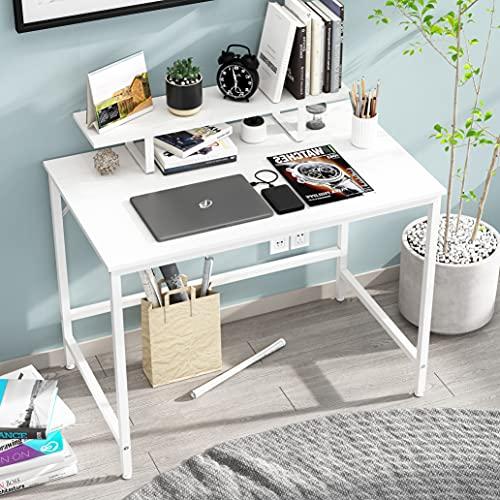 HOMEYFINE JOISCOPE Computertisch,Laptop-Tisch mit Stauraum für Controller,40 Zoll,Holz...