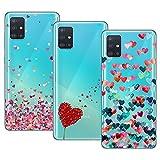 Young & Min Funda para Samsung Galaxy A51 4G[No para 5G], (3 Pack) Transparente TPU Silicona Carcasa...