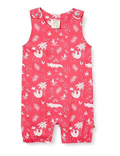 loud + proud Baby-Mädchen Short Romper Allover Print Organic Cotton Strampler, Rosa (Azalea Aza), (Herstellergröße: 86/92)