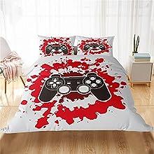 LPFNSF Juego de ropa de cama de Gamepad, diseño moderno, juego de cama, funda nórdica para niños, jóvenes, adolescentes, hombres (44,135 x 200 cm), multicolor