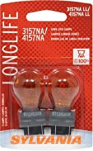 SYLVANIA - 3157NA Long Life Miniature - Amber Bulb, Ideal for Parking, Side Marker and Turn Signal Applications. (Contains 2 Bulbs)
