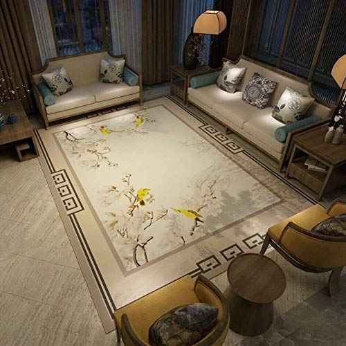 LY En rétro chinois Tapis Super Soft Anti Slip Tapis for Salon Chambre Maison Tapis Canapé sol Matbed Couverture Side (Couleur : A, Taille : 140x200cm(55x79inch))