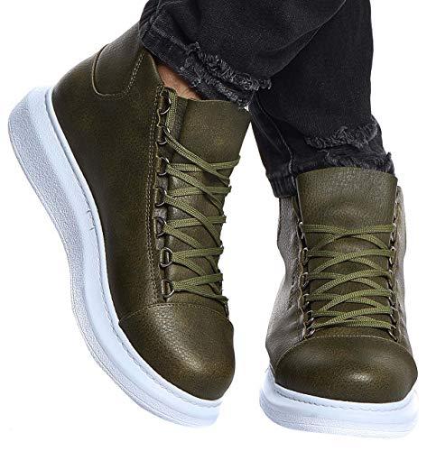 Leif Nelson Herren Schuhe Klassische Stiefel Freizeitschuhe Boots Winterschuhe Männer Sneakers LN163; 42, Khaki