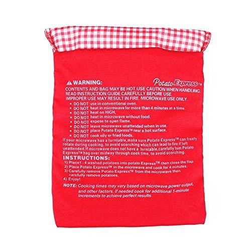 Lot 2 Unids four à micro-ondes de pommes de terre Sac Rouge pour une cuisson rapide cuisson (8 terre à la fois à 4 minutes seulement) OPEN BUY
