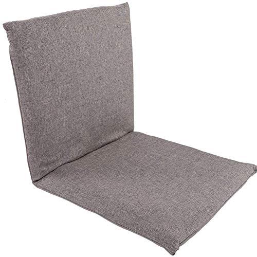Floor Stoel Folding met rugsteun Verstelbare Comfortabele Lazy Sofa Tatami voor thuiskantoor,Gray