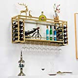Botellero de Vino, Botellero de Pared, Botellero Moderno y Minimalista, Botellero de Acero Inoxidable, Vitrina de Pared, Botellero Creativo Nórdico