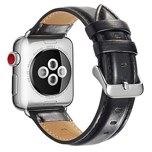 Bandas de cuero para Apple Watch Band series 5 4 44mm 40mm pulseira para iwatch strap serie 3 2 band 42mm 38mm correa pulsera cinturón