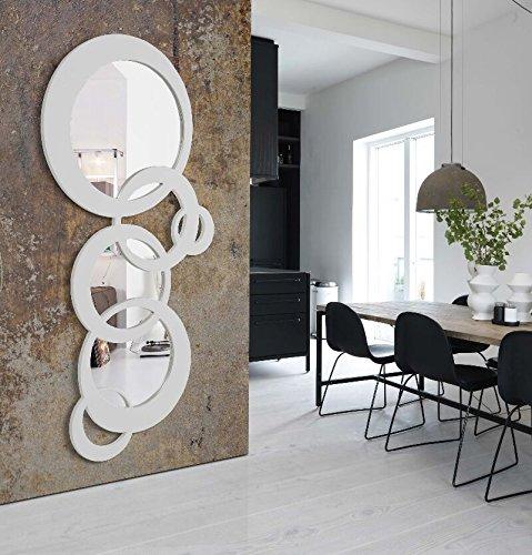 Disarte iBergada Miroir moderne Bruxelles - Blanc laqué - 178 x 84 cm